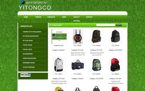 Screenshot of Products Page yitongco.com - Category--YITONGCO - captured Oct. 1, 2014