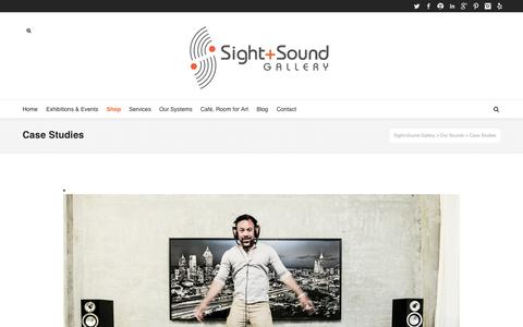 Screenshot of Case Studies Page sightandsoundgallery.com - Case Studies - Sight+Sound Gallery - captured Oct. 30, 2014