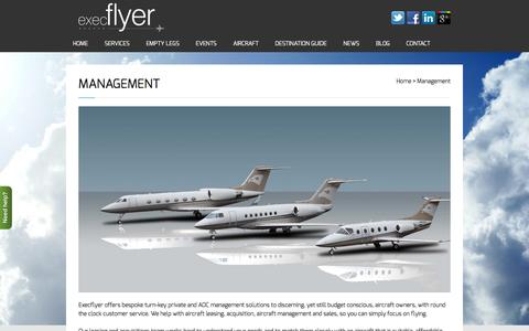 Screenshot of Team Page execflyer.com - Aircraft Management, Acquisitions, Sales & Leasing Services - captured Jan. 31, 2016