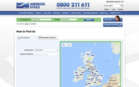 Screenshot of Locations Page andrews-sykes.com - UK Locations - Andrews Sykes - captured March 2, 2017