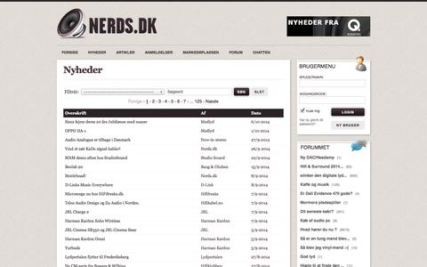 Screenshot of Press Page nerds.dk - Nerds.dk - Hifi, Stereo & Lyd - captured Oct. 7, 2014