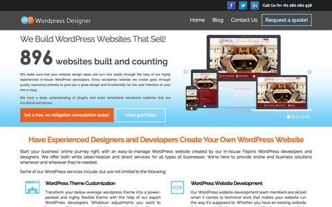 Wordpress Designer - Wordpress Design and Development in Philippines