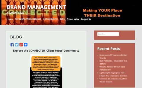 Screenshot of Blog connectedbrandmanagement.com - BLOG   BRAND MANAGEMENT - captured Jan. 23, 2016
