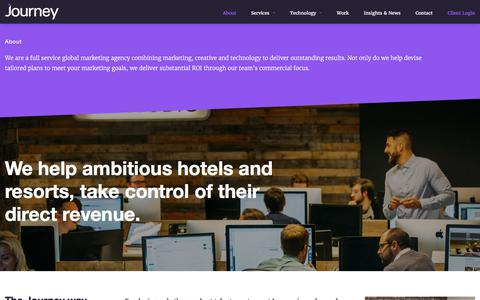 Screenshot of About Page journey.travel - About Journey & The Hotel Industry | Journey - captured Sept. 9, 2017