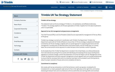 UK Tax Strategy