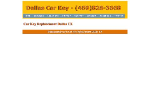 Screenshot of Services Page dallascarkey.com - Car Key Replacement | (469)828-3668 | Dallas Texas - captured Nov. 3, 2014