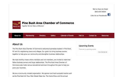 Screenshot of About Page pinebushchamberofcommerce.org - Pine Bush Area Chamber of Commerce - About Us   Pine Bush Area Chamber of Commerce - captured May 18, 2016