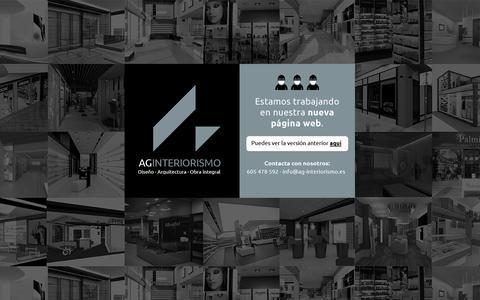 Screenshot of Home Page ag-interiorismo.es - AG Interiorismo - captured Jan. 21, 2015