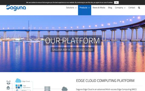 Screenshot of Products Page saguna.net - Multi access Edge Computing Pioneer - Saguna - captured Nov. 12, 2018