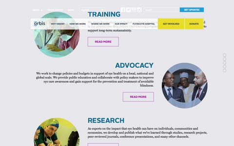 Screenshot of Site Map Page orbis.org - Site Map | Orbis - captured Oct. 26, 2014
