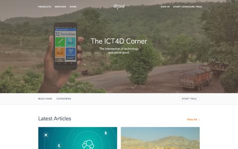 Screenshot of Blog dimagi.com - The ICT4D Corner :: Dimagi's Blog - captured March 22, 2018