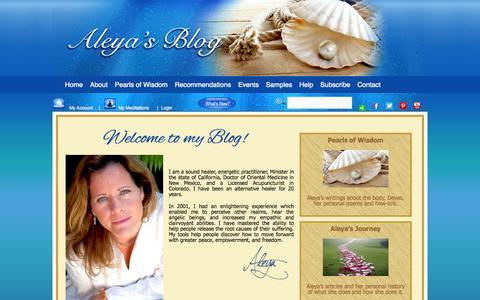 Screenshot of Blog aleyadao.com - Aleya Dao's Blog - captured Oct. 5, 2014