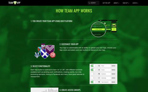 Screenshot of About Page teamapp.com - How Team App Works - captured July 13, 2017
