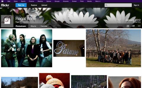 Screenshot of Flickr Page flickr.com - Flickr: Regal Wine Imports' Photostream - captured Oct. 25, 2014