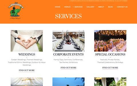 Screenshot of Services Page thebigrajah.com - Services | The Big Rajah - captured Oct. 20, 2018