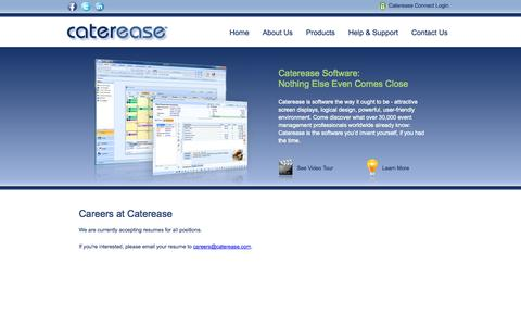 Screenshot of Jobs Page caterease.com - Catering Software, Event Management Software for professionals - Caterease: Career Opportunities - captured Sept. 24, 2014