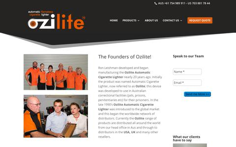 Screenshot of About Page ozilite.com - About Team and Facilities  | Ozilite - captured Oct. 19, 2018