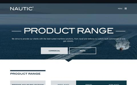 Screenshot of Products Page nauticafrica.com - Nautic Africa : Guardian Range: 8m-15m - captured Aug. 15, 2016