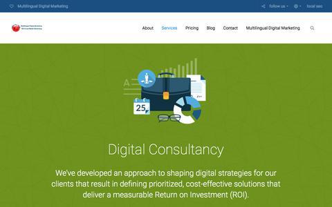 Screenshot of Services Page golden-way-media.com - Multilingual Digital Consultancy | Multilingual Digital Marketing 2018 - captured July 21, 2018