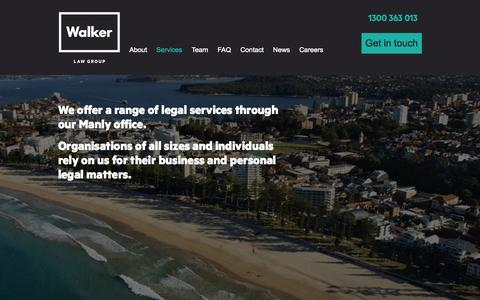 Screenshot of Services Page walkerlawgroup.com.au - Our Services Compensation Lawyers Sydney, Workers Compensation Claims, Motor Vehicle Accident Compensation, Personal Injury Lawyers.  | Walker Law Group - captured Oct. 27, 2014