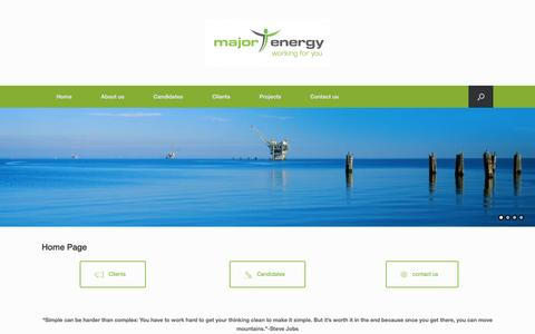 Screenshot of Home Page major-energy.com - | major Recruitment - captured March 26, 2017