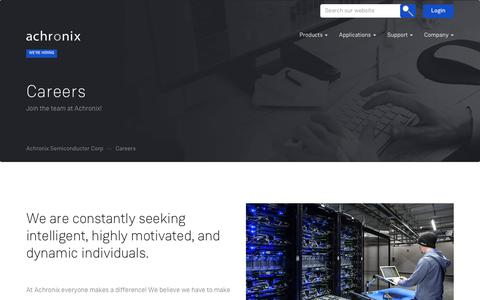 Screenshot of Jobs Page achronix.com - Careers – Achronix Semiconductor Corp - captured Oct. 7, 2017