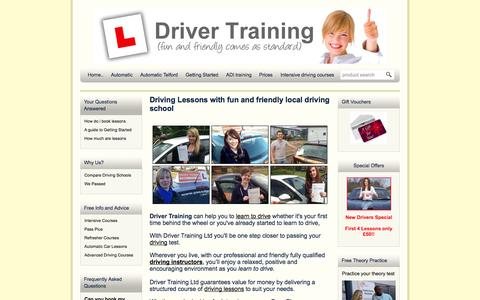 Screenshot of Home Page local-driving-lessons.me.uk - Driving School | Driver Training Ltd | Learner Driver School - captured Sept. 25, 2014