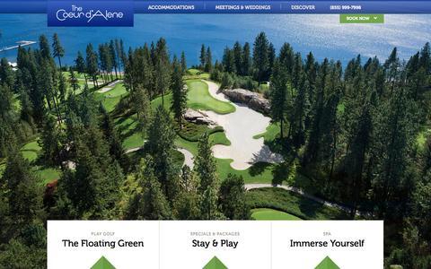 Screenshot of Home Page cdaresort.com - Coeur d'Alene Resort | The Coeur d'Alene - captured Sept. 22, 2014
