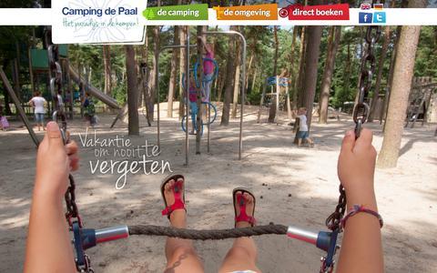 Screenshot of Home Page depaal.nl - Beste Kindercamping de Paal Nederland - captured Oct. 1, 2014