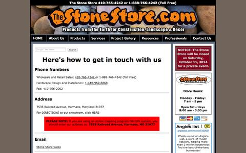 Screenshot of Privacy Page Contact Page thestonestore.com - Contact Us: 1-888-766-4242 - captured Sept. 30, 2014