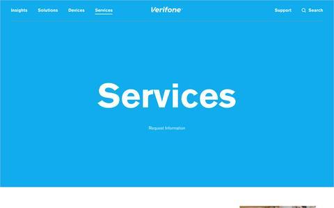 Screenshot of Services Page verifone.com - Services | Verifone.com - captured April 7, 2017