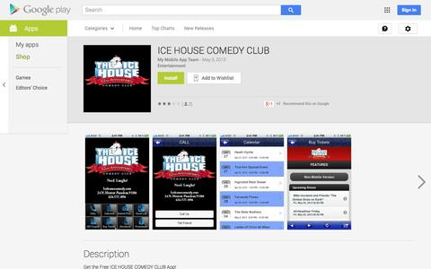 Screenshot of Android App Page google.com - ICE HOUSE COMEDY CLUB - Android Apps on Google Play - captured Oct. 23, 2014