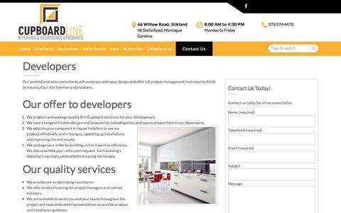 Screenshot of Developers Page cupboardline.co.za - Developers – CupboardLine - captured July 24, 2018
