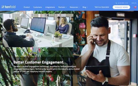 Screenshot of Home Page tenfold.com - Tenfold - The Customer Experience Cloud™ - captured Oct. 9, 2019