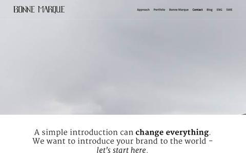 Screenshot of Contact Page bonnemarque.me - Rescue your brand | Contact | Bonne Marque - captured Sept. 30, 2014