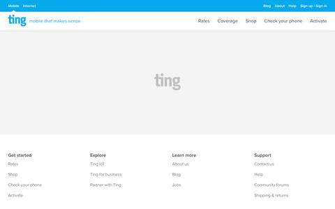 Screenshot of Terms Page ting.com - Ting is a smarter way to do mobile. Check Your Savings. - captured Dec. 4, 2019