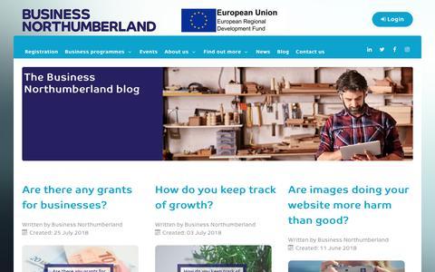 Screenshot of Blog businessnorthumberland.co.uk - Blog - captured Aug. 4, 2018