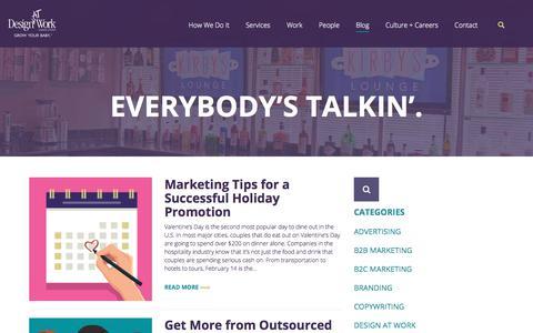 Marketing Blog   Advertising Tips & Marketing Strategies   DesignAt Work