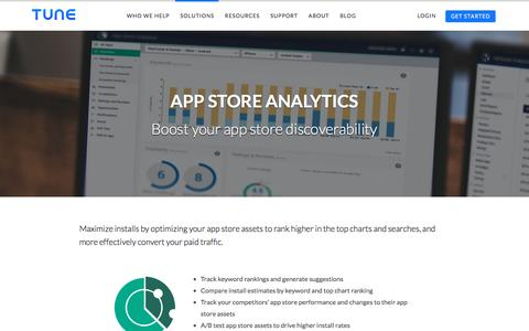 App Store Analytics boosts app store discoverability | TUNE