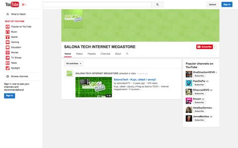Screenshot of YouTube Page youtube.com - SALONA TECH INTERNET MEGASTORE  - YouTube - captured Oct. 23, 2014