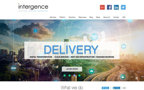 Screenshot of Home Page intergence.com - Intergence UK | Digital Transformation, Consulting and Technology - captured Oct. 15, 2017
