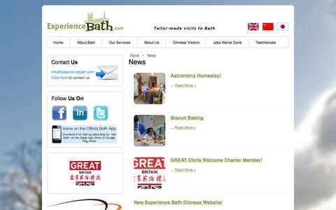 Screenshot of Press Page experiencebath.com - Experience Bath - Tailor-made Visits to Bath - captured Sept. 30, 2014