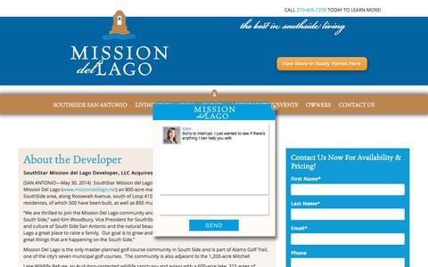 Screenshot of Developers Page missiondellago.net - Kate says... - captured Jan. 28, 2018