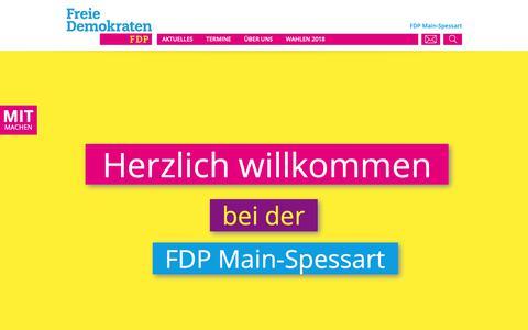 Screenshot of Home Page fdp-mainspessart.de - FDP Main-SpessartHome | FDP Main-Spessart - captured Oct. 30, 2018