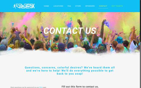 Screenshot of Contact Page thecolorvibe.com - Color Vibe - Contact Us - captured June 21, 2017