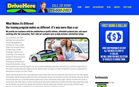 Screenshot of About Page drivehere.com - About | DriveHere.com - captured Nov. 3, 2014