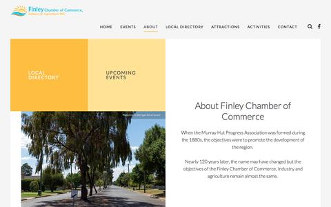 Screenshot of About Page finley.org.au - About - Finley Chamber of Commerce - captured July 1, 2018
