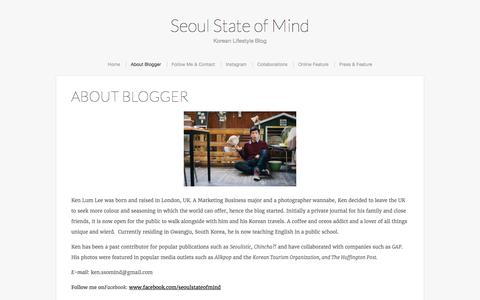 Screenshot of About Page seoulstateofmind.com - About Blogger   Seoul State of Mind - captured Aug. 30, 2016