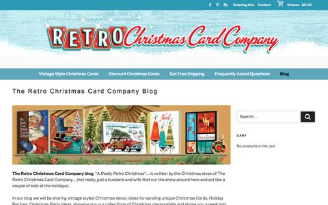 Screenshot of Blog retrochristmascardcompany.com - The Retro Christmas Card Company Blog - Retro Christmas Cards - captured Oct. 8, 2017