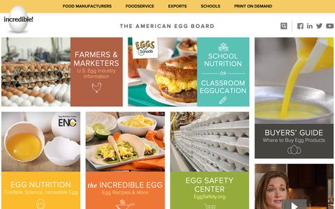 Screenshot of Home Page aeb.org - Home - American Egg Board - captured Oct. 21, 2018